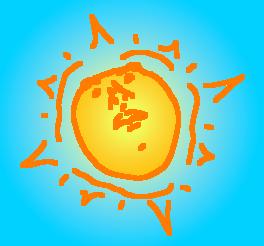 face on sun